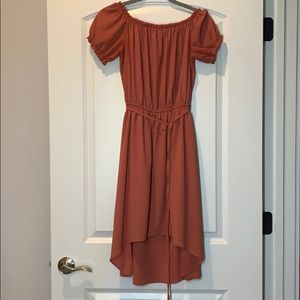 Charlotte Russe high low Dress, off shoulder,Small